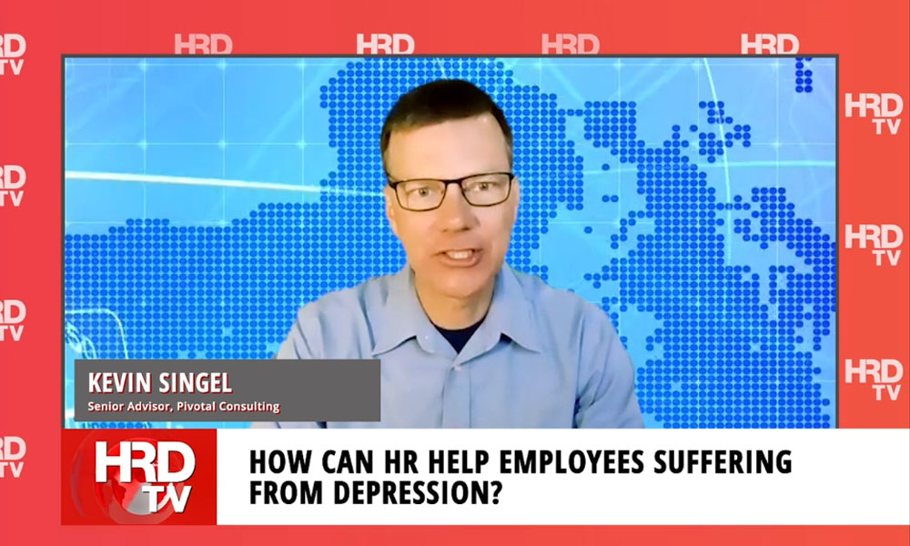 How can HR assist employees suffering from depression?