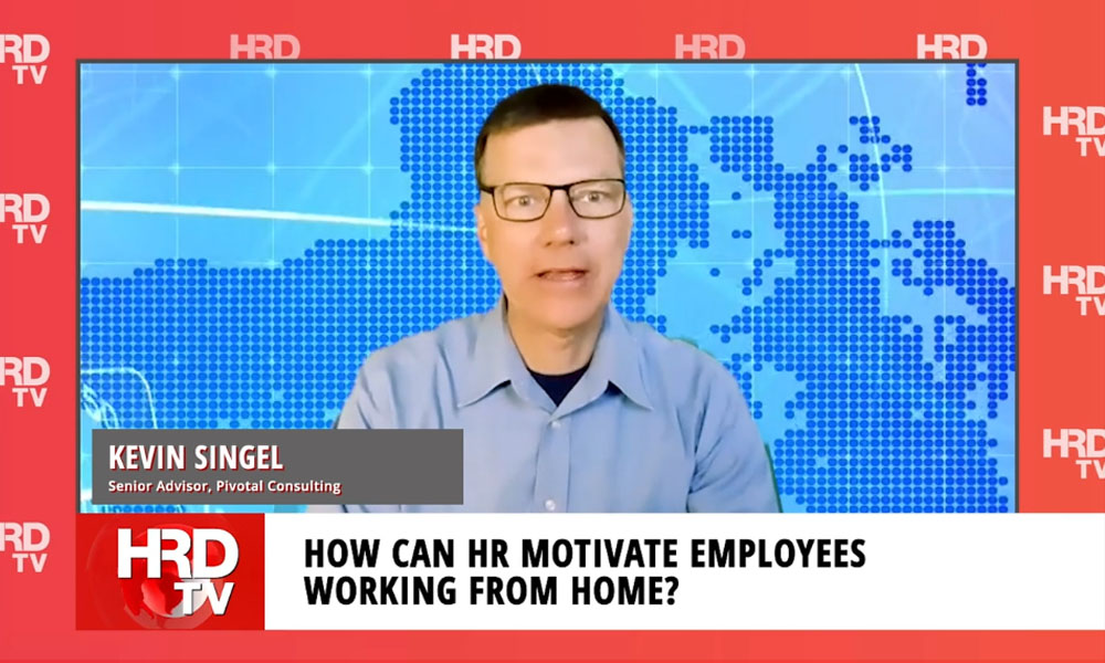 How can HR motivate employees working from home?