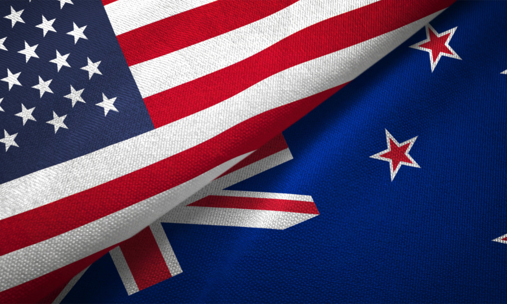 Which jurisdiction governs an NZ employee transferred to the USA?