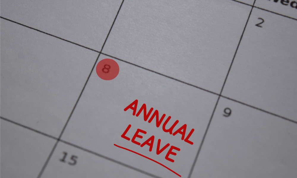 Excess unused leave? Employer makes one-off policy change