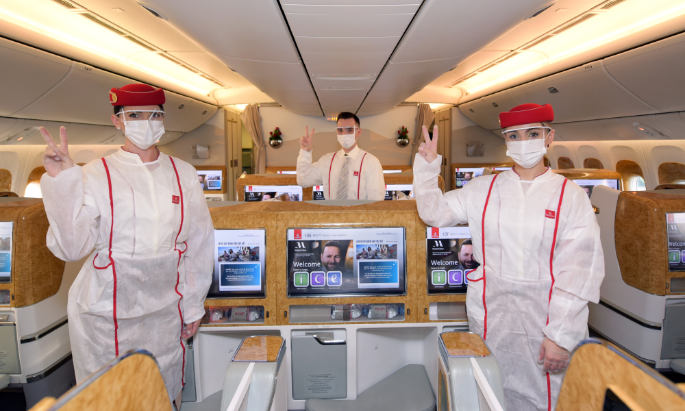 Emirates Group boasts 'fully vaccinated' frontline teams
