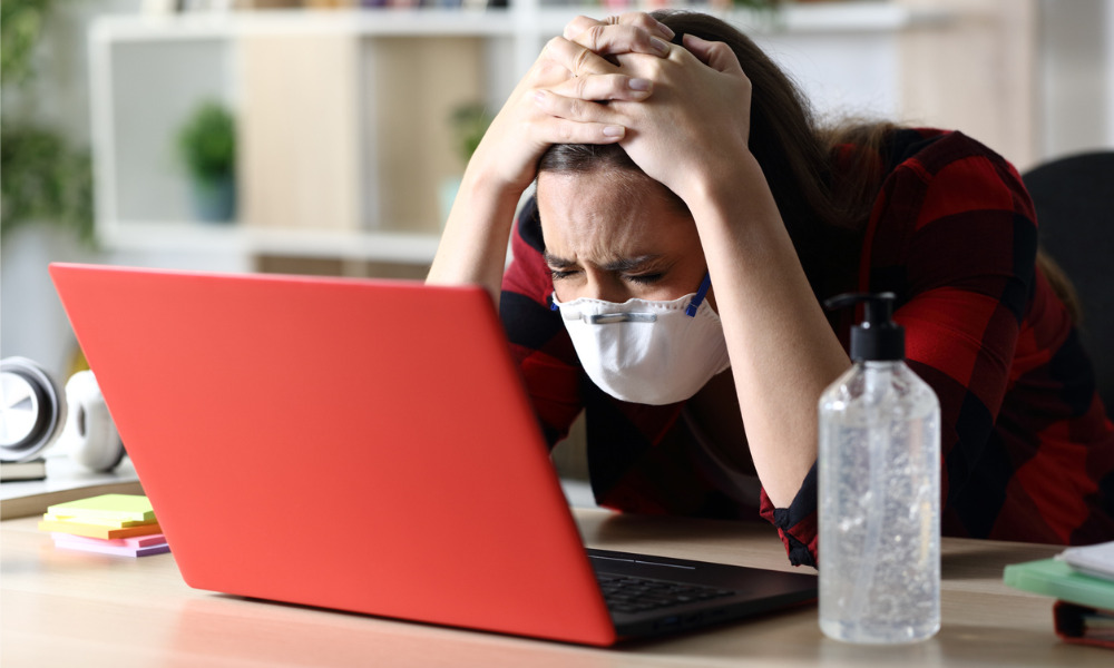 Almost all employees struggle with COVID-19 anxiety