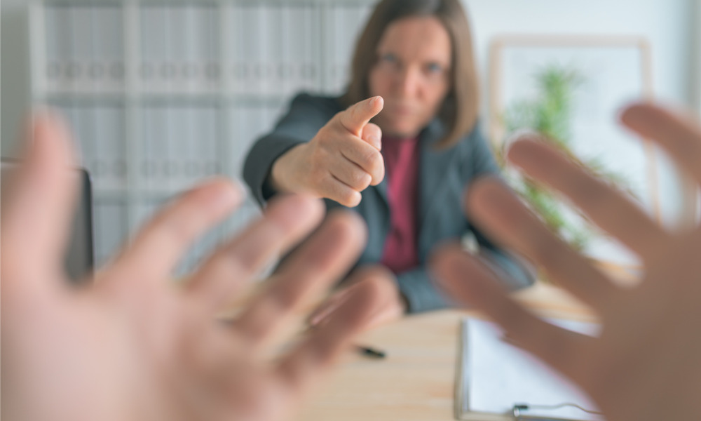 Can you fire staff for a 'minor' mistake?