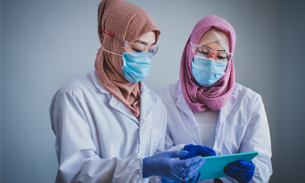 Healthcare workers can don the tudung from November
