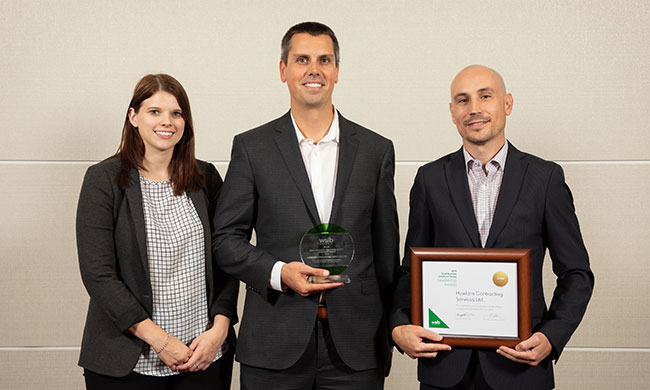 Hawkins Contracting Services wins WSIB small business award