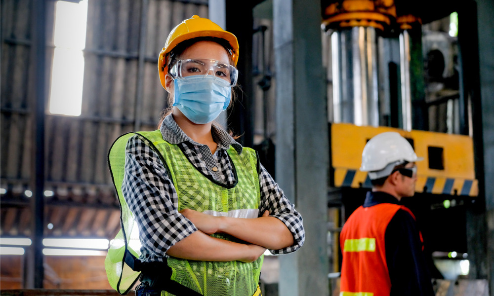 Female workers struggle with ill-fitting PPE