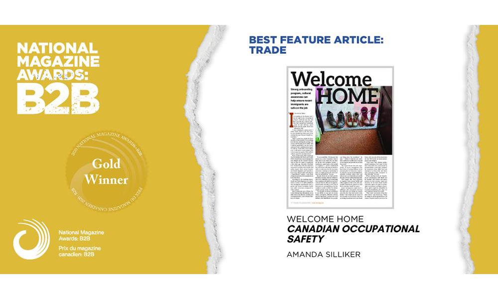 COS editor wins gold at National Media Awards: B2B!
