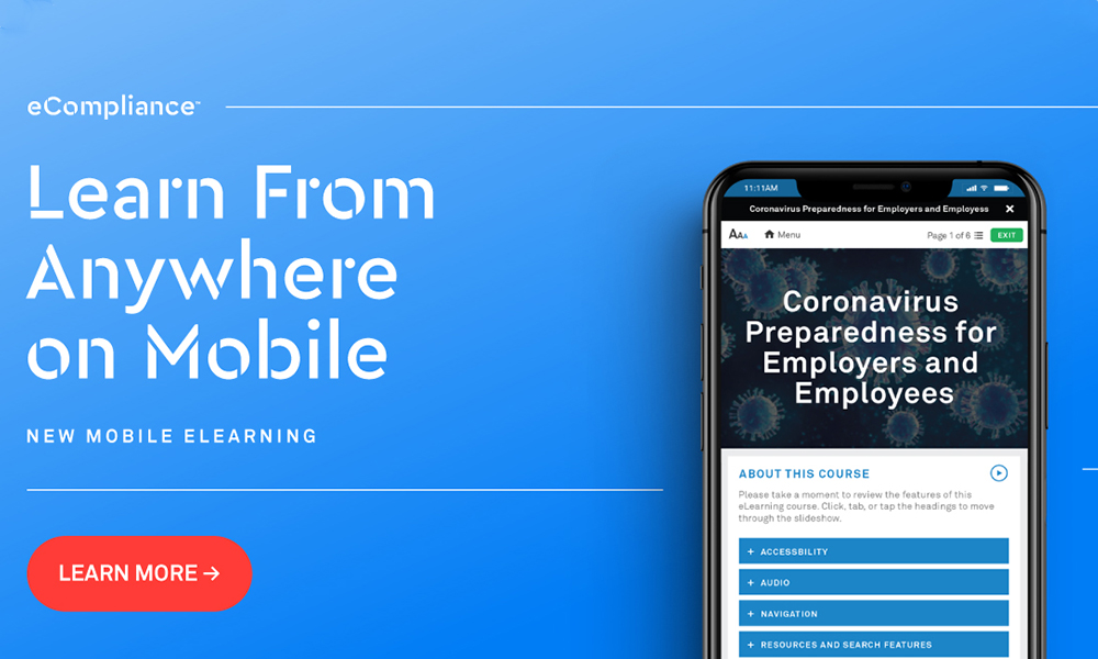 eCompliance eLearning on mobile