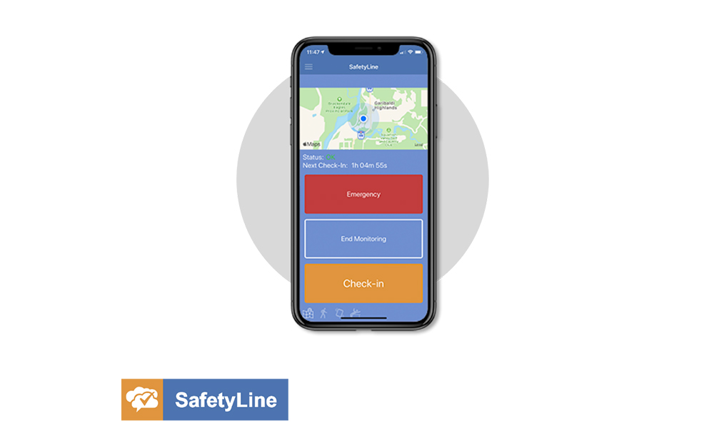 SafetyLine business intelligence feature with contact tracing