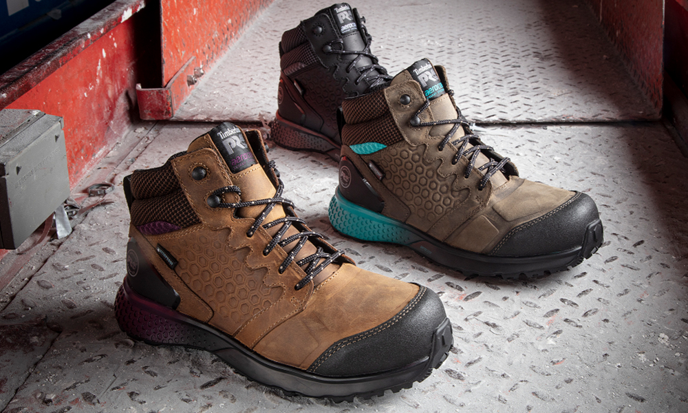 BASF Aerocore Energy System and Timberland PRO Reaxion safety shoe