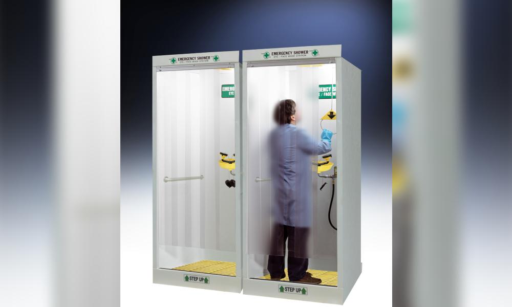 HEMCO Emergency shower decontamination booth