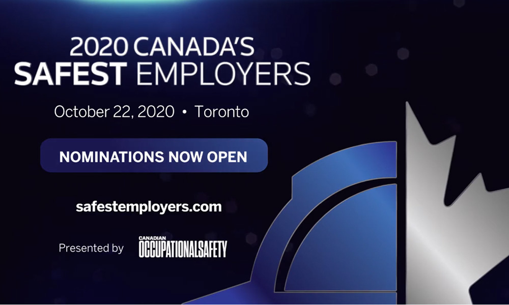 Nominate your champions for Canada's Safest Employers 2020