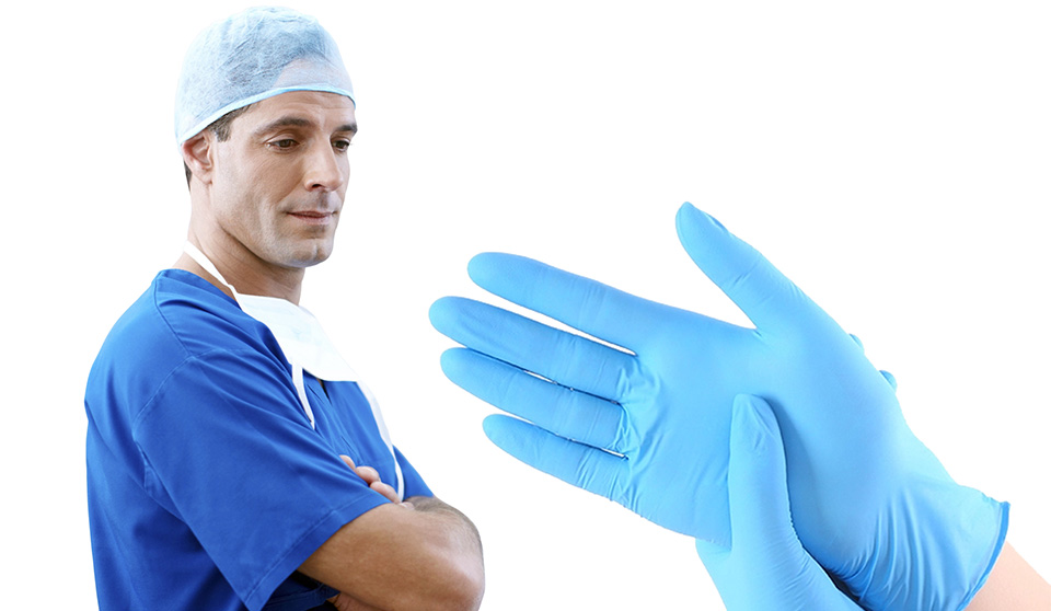 Aquila N935 powder free medical gloves