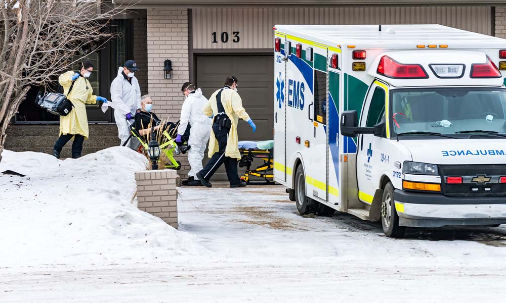 Alberta changing EMS vehicles drop off rule