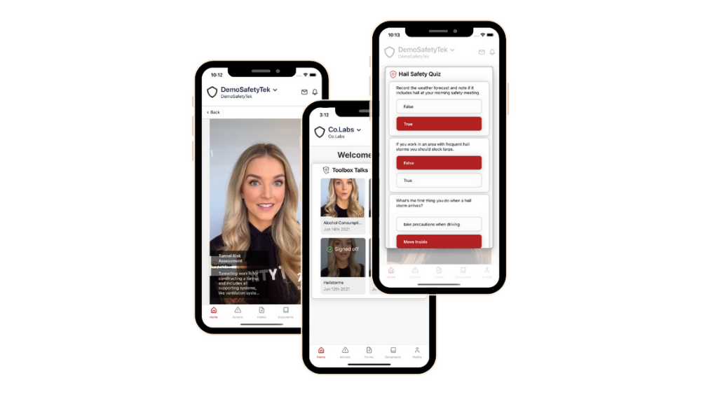 SafetyTek Toolbox Talks app