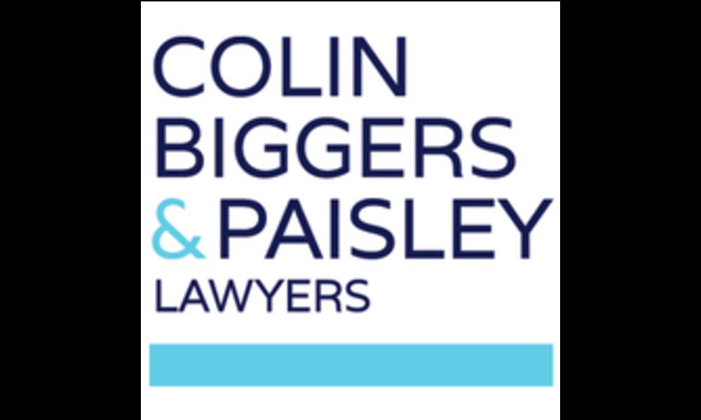 COLIN BIGGERS AND PAISLEY
