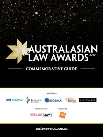2020 Australasian Law Awards Commemorative Guide