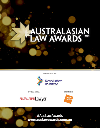 Australasian Law Awards 2021 Excellence Awardees
