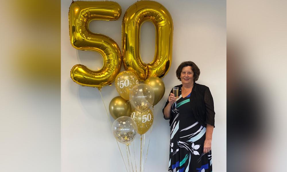 Legal executive celebrates milestone 50 years with Tompkins Wake