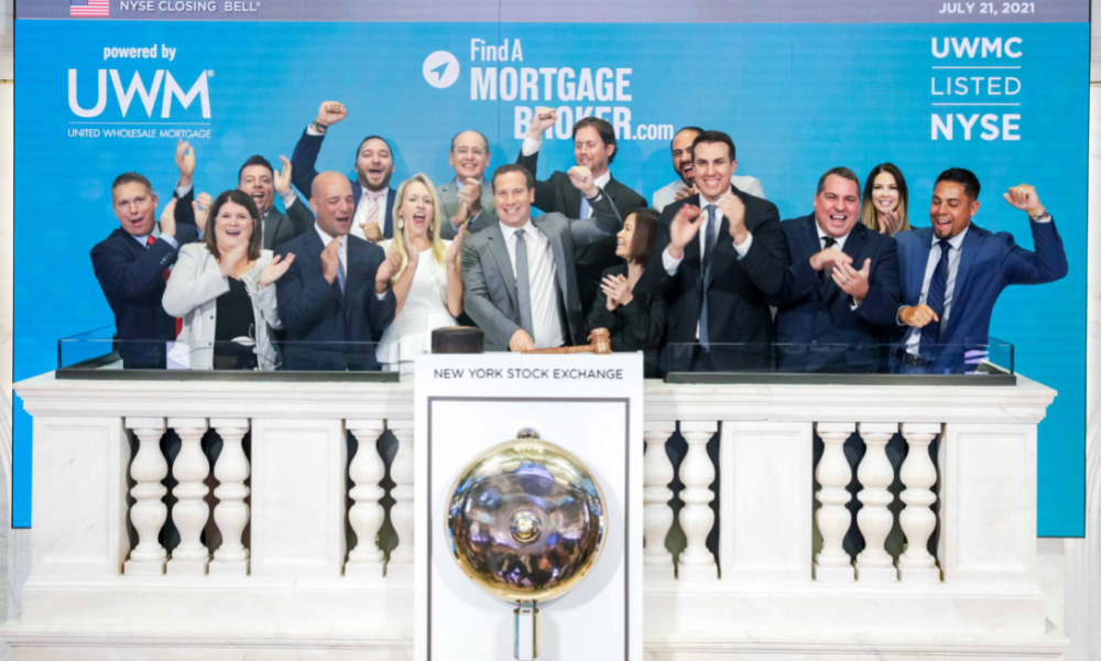 Photos as UWM commemorates National Mortgage Brokers Day by ringing NYSE bell
