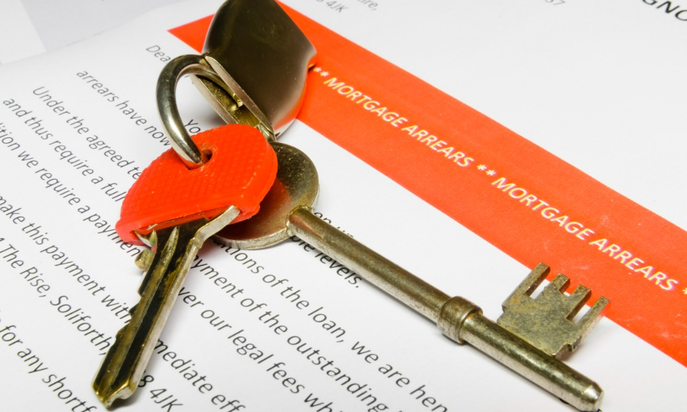 What is influencing mortgage arrears?